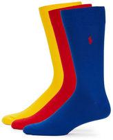 Polo Ralph Lauren Big and Tall Dress Socks 3 Pack