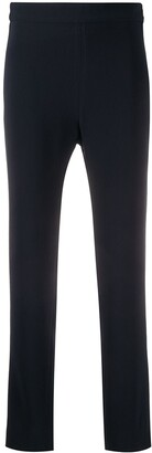 Brag-wette Plain Cropped Trousers