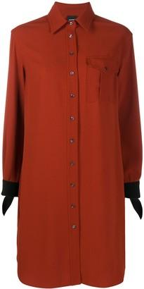 Aspesi Contrasting-Cuff Shirt Dress