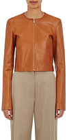The Row Women's Tezra Calfskin Collarless Jacket-TAN