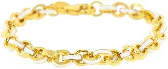 BUDDHA MAMA White Enamel Link Bracelet