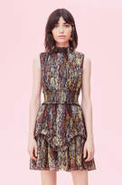Rebecca Taylor Watercolor Snake Lurex Smocked Dress