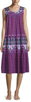 Asstd National Brand Knit Pattern Nightgown