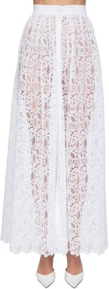 Ermanno Scervino High Waist Buttoned Lace Skirt