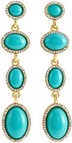 Fragments for Neiman Marcus Pave Four-Tier Linear Earrings, Turquoise