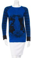 Prabal Gurung Metallic Intarsia Sweater