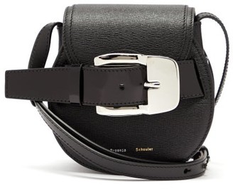Proenza Schouler Buckle Mini Grained-leather Cross-body Bag - Black