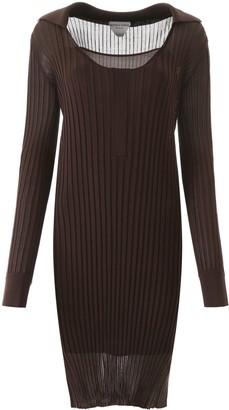 Bottega Veneta Ribbed Silk Knit Dress