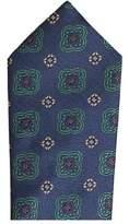 MANGO Flower patterned silk tie