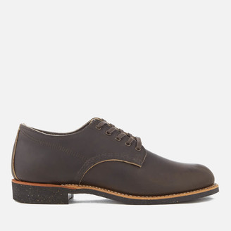 Red Wing Shoes Men's Merchant Leather Oxford Shoes - Ebony Harness - UK 8 - Brown