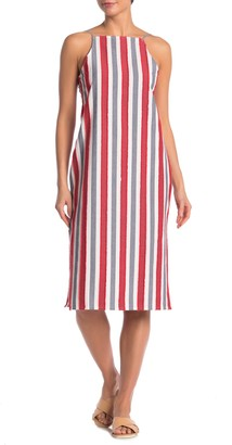Onia Melanie Striped Cover-Up Dress