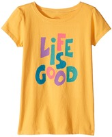 Life is Good Kids Crusher Tee Girl's T Shirt
