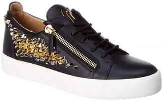 Giuseppe Zanotti Crystal Leather Sneaker