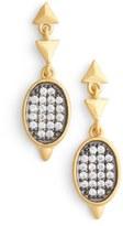 Freida Rothman Contemporary Deco Marquee Drop Earrings