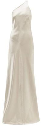 Galvan Roxy Charmeuse Maxi Dress - Silver