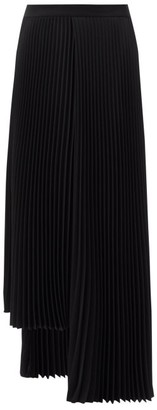 Balenciaga Pleated Asymmetric Crepe Skirt - Black