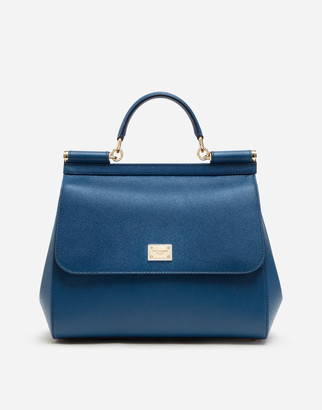 Dolce & Gabbana Regular Sicily Bag In Dauphine Leather