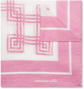 Massimo Alba Printed Cotton Pocket Square