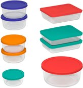 Pyrex 18-Piece Storage Set with Colored Lids