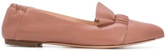 AGL Ruffle-Strap Ballerina Flats