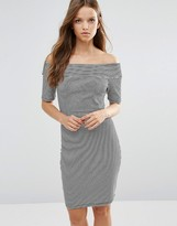 Minimum Moves Bardot Midi Dress
