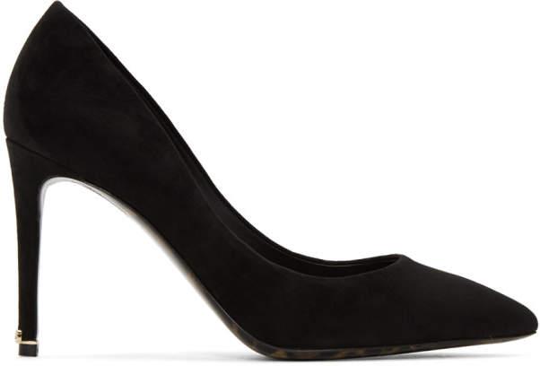 Dolce & Gabbana Black Suede Kate Heels