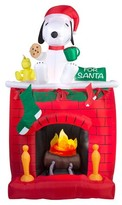 Peanuts 6ft Inflatable Fire & Ice Snoopy on Fireplace