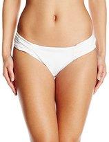 Robin Piccone Women's Yolanda Pleated Shirred Tab Side Bikini Bottom