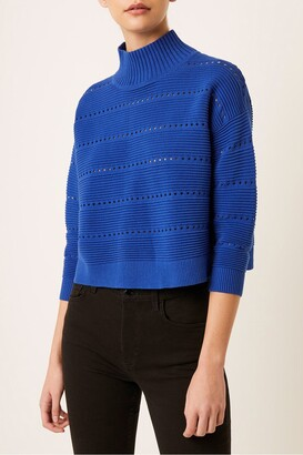 French Connection Liliya Open Knit Pullover Sweater