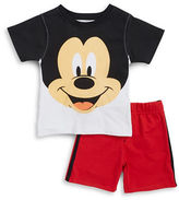 Nannette Baby Boys Baby Boys Mickey Mouse Tee and Shorts Set