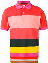 Paul Smith stripe panel polo shirt - men - Cotton - XS