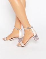 Carvela Groove Pink Embellished Block Heel Sandals