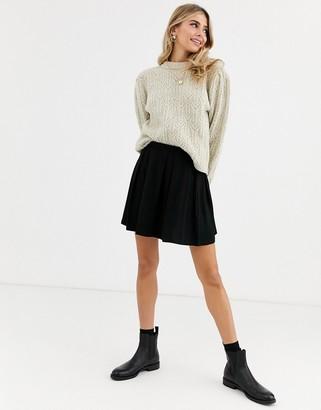 ASOS DESIGN mini skirt with box pleats