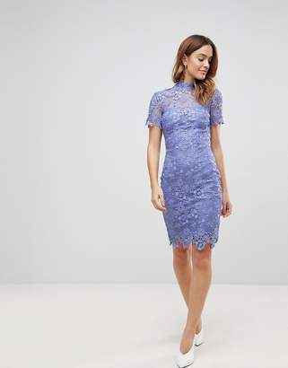 Paper Dolls Daisy Crochet Dress-Blue