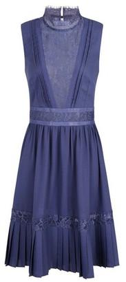 Dorothy Perkins Womens Little Mistress Lavender Gunmetal Lace Trim Midi Dress