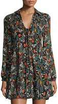 Free Generation Floral-Print Woven Dress, Red