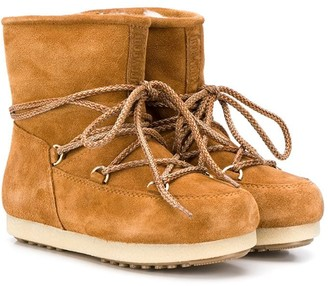 Moon Boot Kids lace-up snow boots