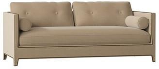 "Gabby Nova 84"" Square Arm Sofa Body Fabric: Prato Flax, Nailhead Detail: Antique Nickel, Cushion Fill: Standard"