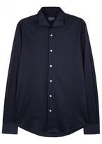 Pal Zileri Navy Cotton Jersey Shirt