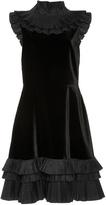Jill Stuart Lauren Velvet Ruffle Dress