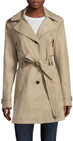 Via Spiga Scarpa Cotton Pleated Trench Coat