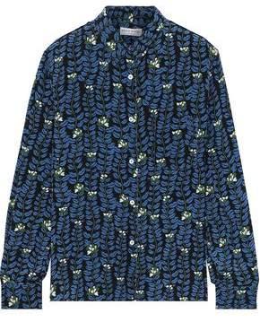 Sonia Rykiel Printed Silk Crepe De Chine Shirt