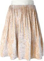 Maison Rabih Kayrouz metallic pleated skirt