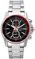 Seiko Men's SNN247 Sports Stainless-Steel Black Chronograph Dial Watch
