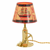 Rejuvenation Nautical Table Lamp with Screen Printed Paper Shade c1940s