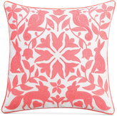 """Cupcakes And Cashmere Chambray Dot 18"""" Square Decorative Pillow"""