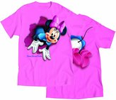 Disney Minnie Mouse 'Pop Out' Front & Back Womens T Shirt Top - Pink S