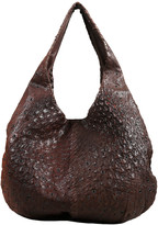Bottega Veneta Brown Ostrich Leather Hobo Bag