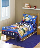 Baby Boom Blue Alvin 'Let's Rock' Four-Piece Bedding Set