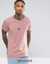 Puma T7 Logo Muscle Fit T-Shirt in Pink 57443304